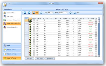 ממשק ניהול ואישור דיווחי נוכחות עובדים סגירת חודש/ תקופה